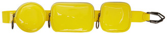 Off-White Yellow Patent Shoulder Pouch