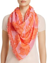 Echo Palm Print Square Wrap Scarf