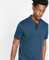 Express baseball collar pique polo