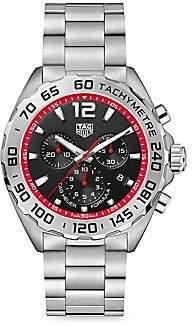 Tag Heuer Women's Formula 1 43MM Stainless Steel Quartz Tachymeter Chronograph Bracelet Watch