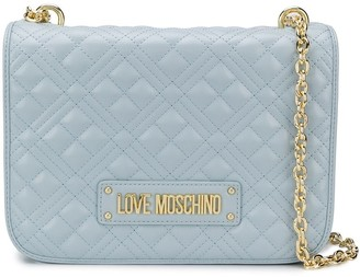 Love Moschino Quilted Logo-Plaque Shoulder Bag