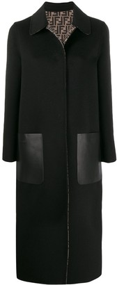 Fendi reversible FF logo coat