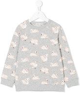 Stella McCartney Swan print sweatshirt - kids - Cotton - 2 yrs