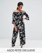 Asos Bardot Jumpsuit in Mono Floral