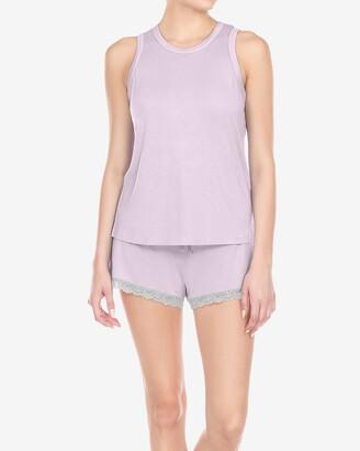 Express Honeydew Intimates All American Pajama Short Set