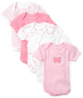 Rene Rofe Newborn/Infant Girls) 5-Pack Bow Bodysuits