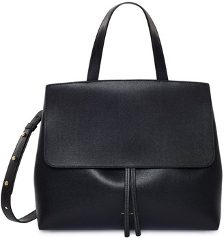 Mansur Gavriel Saffiano Lady Bag - Black/Flamma