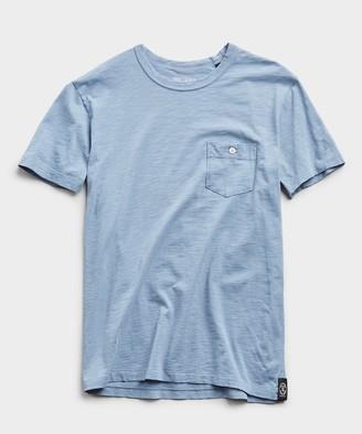 Todd Snyder Made In L.A. Slub Jersey Pocket Tee in Blue Mist
