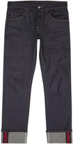 Gucci Indigo Raw Selvedge Slim-leg Jeans