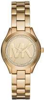 MICHAEL Michael Kors 33mm Mini Slim Runway Bracelet Watch, Gold