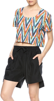 Mary Meyer Woven Crop Tee
