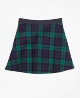 Brooks Brothers Velvet Black Watch Skirt
