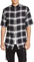 Helmut Lang Plaid Drawcord Slim Fit Button-Down Shirt