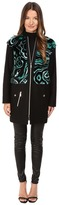 Versace Liquid Fur Wool Zip Jacket Women's Coat