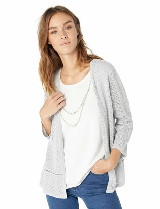 Alfred Dunner Women's Pointelle Two for one Sweater