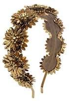Deepa Gurnani Fashion Hair Accessories Gold Brass Flower Headband