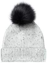 Oliver Bonas Cashmere Turn Up Pom Pom Hat