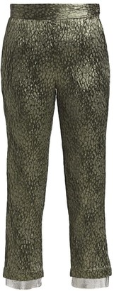 Rachel Comey Zucar Jacquard Wide-Leg Crop Pants