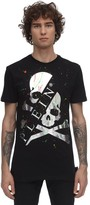 Philipp Plein Printed & Painted Cotton Jersey T-shirt