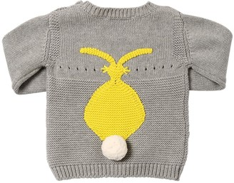Stella McCartney Rabbit Cotton Intarsia Knit Sweater