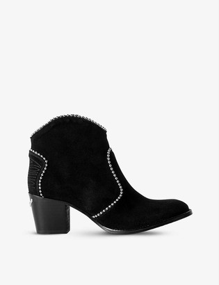 Zadig & Voltaire Molly stud-embellished suede ankle boots