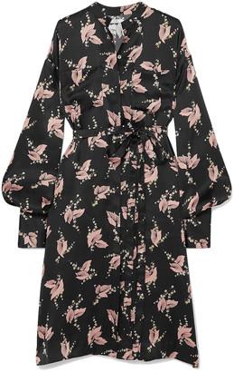 Co Printed Silk Midi Dress