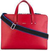Furla large Vulcano briefcase - men - Calf Leather - One Size