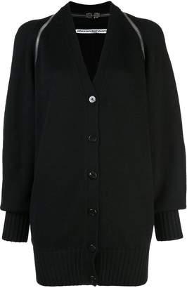 Alexander Wang v-neck split shoulder cardigan