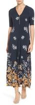 Chaus Women's Floral Border Print Midi Dress