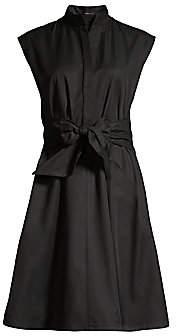 Josie Natori Women's Cap-Sleeve Taffeta Flare Dress