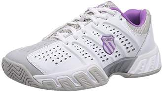 K-Swiss Performance Women's KS TFW Bigshot Light-WHT/GLLGRY/DWBRRY/ORCHDI Tennis Shoes White Size: