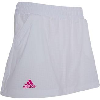 adidas Womens Seasonal Tennis Skirt White/Shock Pink