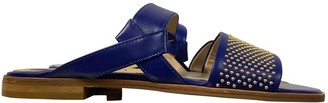 Elie Saab Blue Leather Sandals