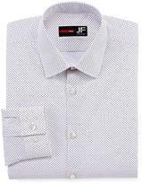 Jf J.Ferrar Stretch Long Sleeve Broadcloth Diamond Dress Shirt - Slim