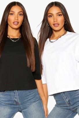 boohoo Tall Basic Cotton 2 Pack T-Shirt Set