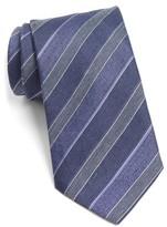 John Varvatos Men's Stripe Silk Blend Tie