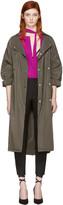 Nina Ricci Green Sporty Trench Coat
