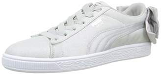 Puma Women's Suede Bow Shimmer WN's Low-Top Sneakers, Pink (Bridal Rose White 01)