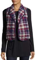 BCBGeneration Quilted Plaid Vest