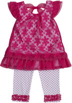 Little Lass Lace Top and Dot Capri Set - Preschool Girls 4-6x