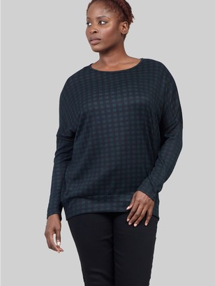M&Co Izabel Curve checked pullover jumper