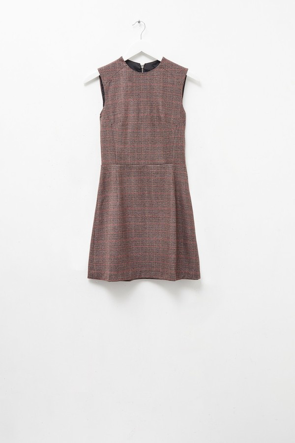 French Connection Houndstooth High Neck Dress