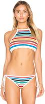 Shoshanna Crochet High Neck Bikini Top