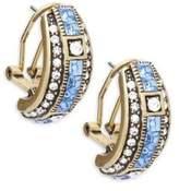 Heidi Daus Crystal J-Hoop Earrings