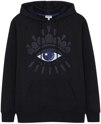 Kenzo Eye-embroidered hooded cotton sweatshirt