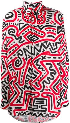 Études x Keith Haring all-over print shirt