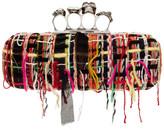 Alexander McQueen Multicolor Tweed Wishing Tree Knuckle Box Clutch