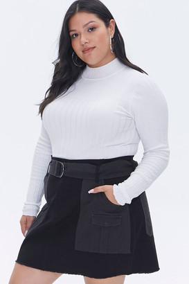 Forever 21 Plus Size Reworked Mini Skirt