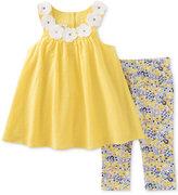 Kids Headquarters 2-Pc. Floral Tunic & Capri Pants Set, Toddler & Little Girls (2T-6X)