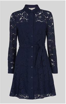 Whistles Oliviana Lace Mini Dress